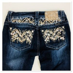 Miss Me Jeans sequin Embellished bootcut 27 NEW